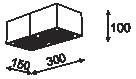Cleoni TUZ T019X2Sh Plafon Srebrny 101