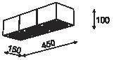 Cleoni TUZ T019X3Sh Plafon Srebrny 101