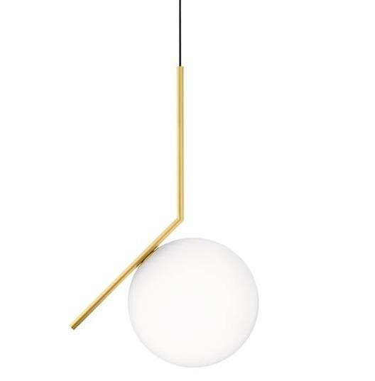 IC S1 EU CRO mosiądz Lampa Wisząca Flos 20 cm
