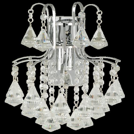 Lampa Ścienna kryształowa Elem Monte Carlo 6246/1 8C chrom