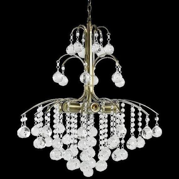 Lampa Wisząca kryształowa Elem Monte Carlo 6247/6 21QG mosiądz