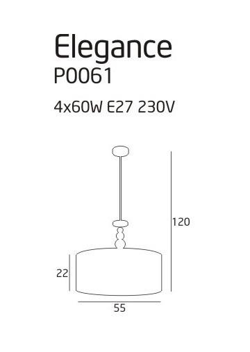 Lampa wisząca MaxLight ELEGANCE P0061