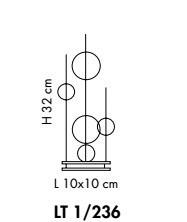 Lampka Stołowa Sillux NIAGARA LT 1/236 31 chrom