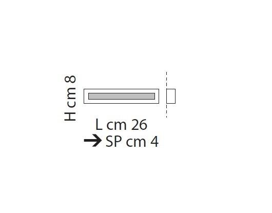 Male-Line Lampa Sufitowa LED 26 cm Sillux biały