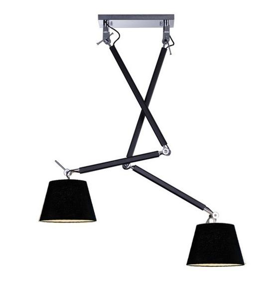 Zyta 2S MD2300-2S BK Lampa Wisząca Azzardo czarna