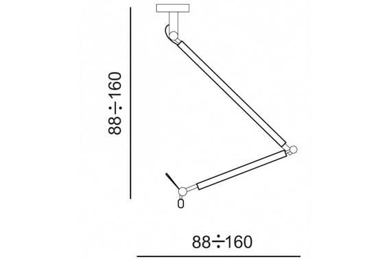 Zyta M MD2300-M WH Lampa Wisząca Azzardo biała