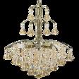 Lampa Wisząca kryształowa Elem Monte Carlo 6246/6 21QG mosiądz